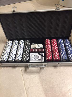 Poker chips set for Sale in Kenosha, WI