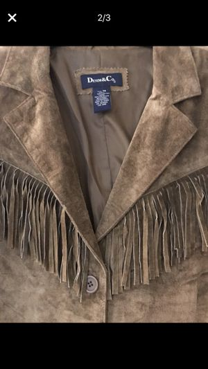 Women's 1X washable leather fringed coat for Sale in Youngsville, NC