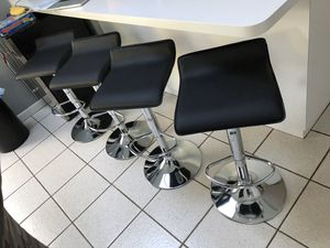 Set of 4 black chairs bar stools new in box? for Sale in Clifton, NJ