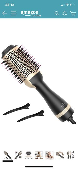 Hot Air Brush, Bongtai Hair Dryer Brush Hair Dryer & Volumizer 3 in 1 Brush Blow Dryer Styler for Rotating Straightening, Curling, Salon Negative Ion for Sale in Rockville, MD