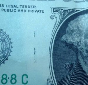 Scarce Error Wet Ink Transfer $1 Dollar Bill- Ink From Back On Front! for Sale in Washington, DC