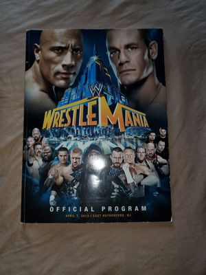 Wrestlemania 29 Program and TNA 2013 Program both autographed by a few wrestlers. WWE BATTLEGROUND CHAIR for Sale in The Bronx, NY