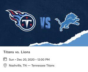 Titans Vs Lions for Sale in Murfreesboro, TN