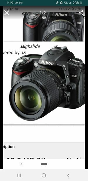 Brand new DSLR Nikon D90...18 -105mm lens for Sale in GREYSTONE PARK, NJ