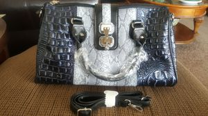 Black/Ink Croco & Snakeskin Embossed Handbag for Sale in Chicago, IL