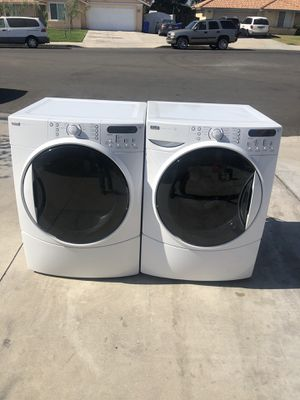 Kenmore Elite washer and dryer gas heavy duty super capacity plus good condition deliver and installation available for Sale in Rialto, CA