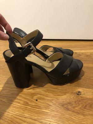 Michael Kors Black Genuine Leather Heels - Size 5 for Sale in Brooklyn, NY