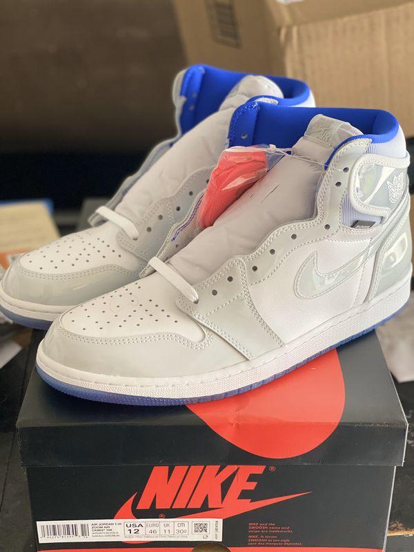 Jordan Retro 1 Zoom White size 12