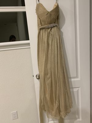 Beautiful Jenny Yoo Gold/Jenny Yoo Gold Strapless Evening Gown/Bridesmaid Dress for Sale in Marble Falls, TX