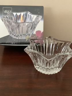 New In Box Mikasa Diamond Fire Crystal Candleholder for Sale in East Brunswick,  NJ