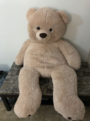 Giant teddy bear with big footprints light brown for Sale in Pittsburgh, PA