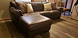 Italian leather 2pc sectional for Sale in Bow, WA