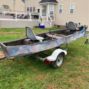 Gheenoe Boat And Trailer for Sale in Chesapeake, VA