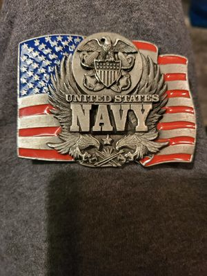Red white and blue patriotic NAVY belt buckle for Sale in Bensalem, PA