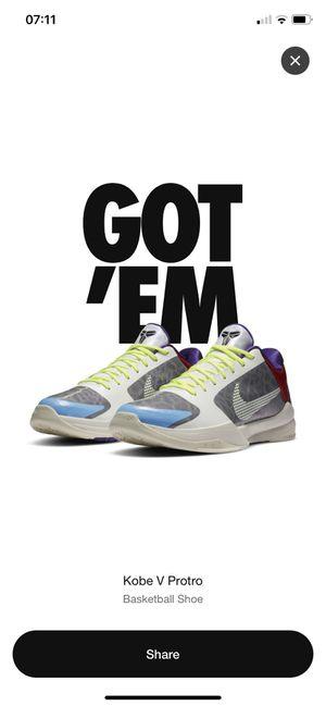 Nike Kobe V Protro PJ Tucker size 10.5 for Sale in Walnut, CA