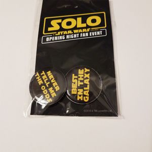 Disney Solo A Star Wars Story Opening Night Fan Event Buttons for Sale in Peoria, AZ