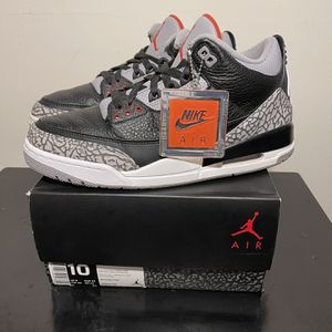 Black Cement 3s Size 10 for Sale in Silver Spring, MD