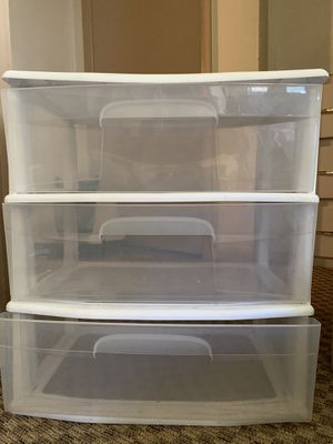 Plastic 3 Drawer Storage for Sale in Portland, OR