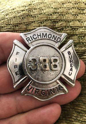 Richmond Fire Bureau Badge for Sale in Severna Park, MD