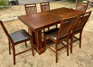 Gorgeous Counter Height Dining Set With 6 Cushioned Chairs for Sale in Carlsbad, CA