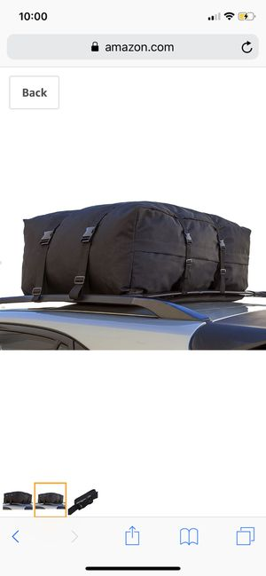 OxGord Car Van SUV Roof Top Cargo Rack Carrier Bag Soft-Sided Waterproof Luggage for Rooftop - 10 Cubic Feet for Sale in Revere, MA