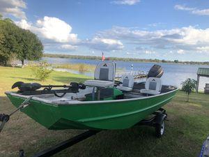 16ft Aluminum Jon Boat w Trailer for Sale in Sebring, FL