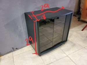 TV stand wall unit shelving unit with glass doors for Sale in Pembroke Pines, FL