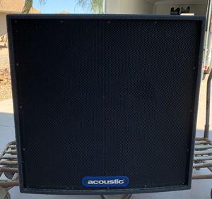 "acoustic SBT 2.6 Massive Pro Audio Subwoofer 26"" Woofer Speaker Sound Reinforcement for Sale in Cave Creek, AZ"