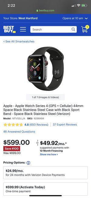 💯BNIB Apple Watch Series 4 44mm black for Sale in Yalesville, CT