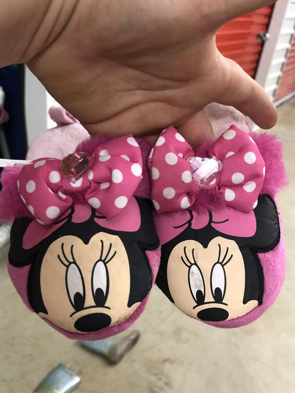 Disney character slippers shoes size 5/6 9/10