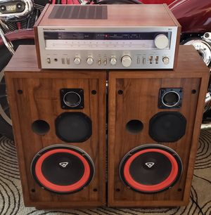 Cerwin Vega D3 Vintage Speakers with MCS 3248 Stereo Amplifier for Sale in Maricopa, AZ