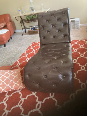Chaise chair- dark brown for Sale in Erie, PA