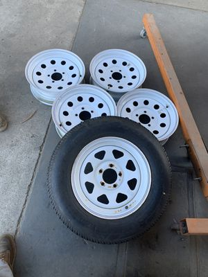 Trailer rims and one spare for Sale in Lakeside, CA