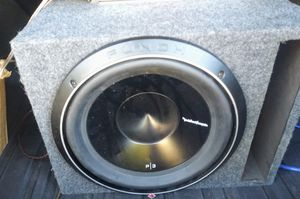 """ROCKFORD FOSGATE P3D2-12. 12"""" subwoofer with ported enclosure for Sale in Phoenix, AZ"""