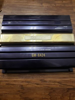 Pioneer GM-424 bridgeable 4-Channel Powercar audio Amplifier for Sale in Irving, TX