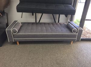 Grey Futon Bed with Pillows for Sale in Downey, CA