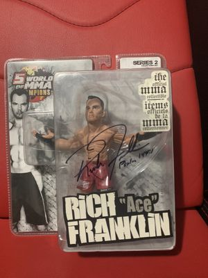 UFC Signed Rich Franklin Action Figure Certificate of Authenticity and Inscription Psalm 144:1 for Sale in City of Industry, CA