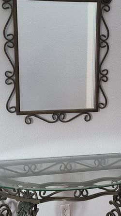 Consol Table With Mirror for Sale in Portland,  OR
