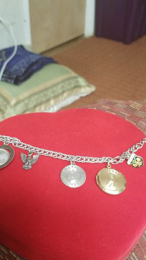BEAUTIFUL STERLING SILVER CHARM BRACELET for Sale in Springfield, VA