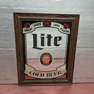 Vintage Miller Lite Mirror for Sale in Darien, IL