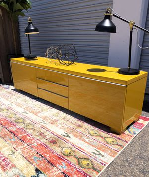 Brand new tv stand/ cabinet / media console in yellow for Sale in San Diego, CA