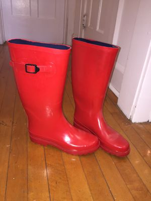 Red rain boots for Sale in Milwaukee, WI