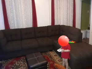 L SOFA PERFECT CONDITIONS WITH THE CARPET WITH THE PILLOWS for Sale for sale  Bronx, NY