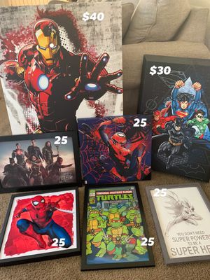 Super hero room decorations pictures and more. Or best offer for Sale in Stockton, CA