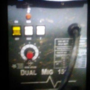 Welder Dual mig wire feed 220 welder and helmet Chicago ELC works great for Sale in Salt Lake City, UT