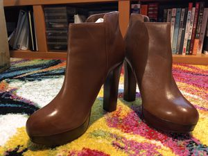 Aldo women's brown heeled boots size 40 for Sale in Herndon, VA