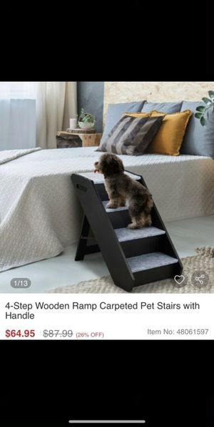 NEW 4-step wooden dog ramp for Sale in Upland, CA