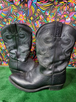 DOUBLE H BLACK BULL HIDE LEATHER ROUND TOE COWBOY WORK BOOTS #DH4418 MEN'S 12 for Sale in Clifton, NJ