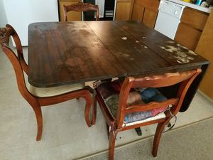 Vintage Dining Table & 3 Chairs for Sale in Wenatchee, WA