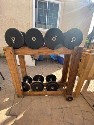Dumb bell set: 15, 20s, 30s, 40s for Sale in San Leandro, CA